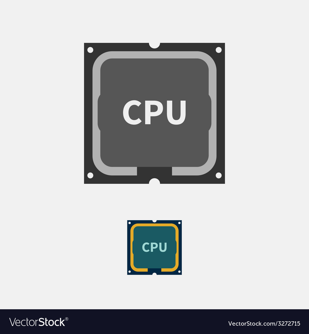 CPU vector image