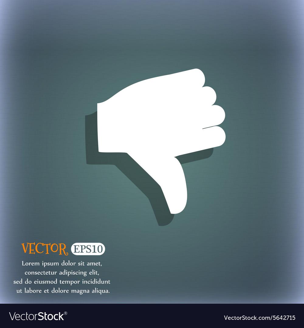 Dislike Thumb down icon symbol on the blue-green