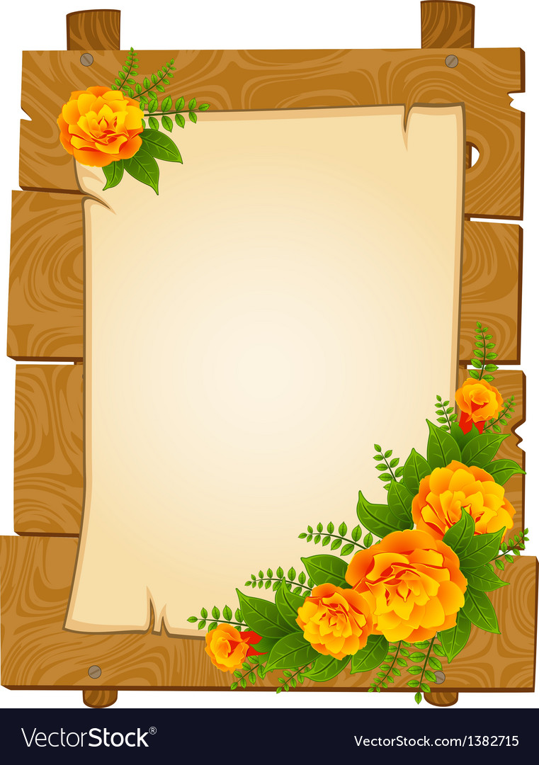 flowers border frame royalty free vector image