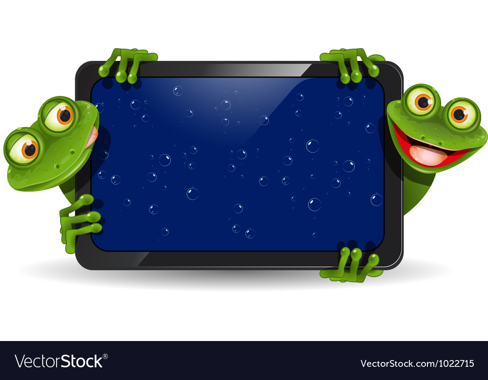Frog with gadget