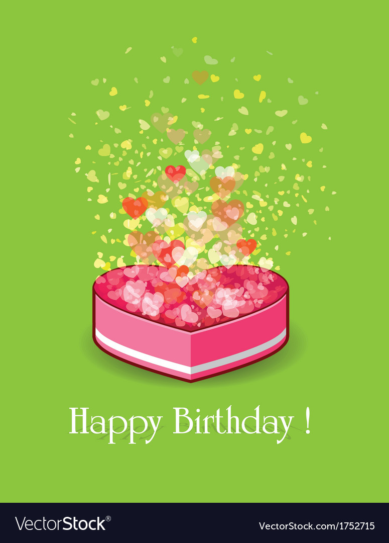 Happy Birthday Gift Box Royalty Free Vector Image