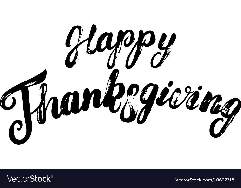 Happy thanksgiving hand written calligraphy