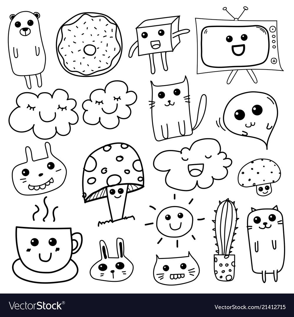 Kawaii doodle for kids