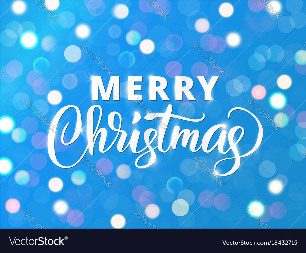 Merry Christmas Text Holiday Greetings Quote Vector Image