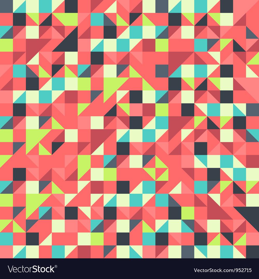 Orange and Blue pattern vector image