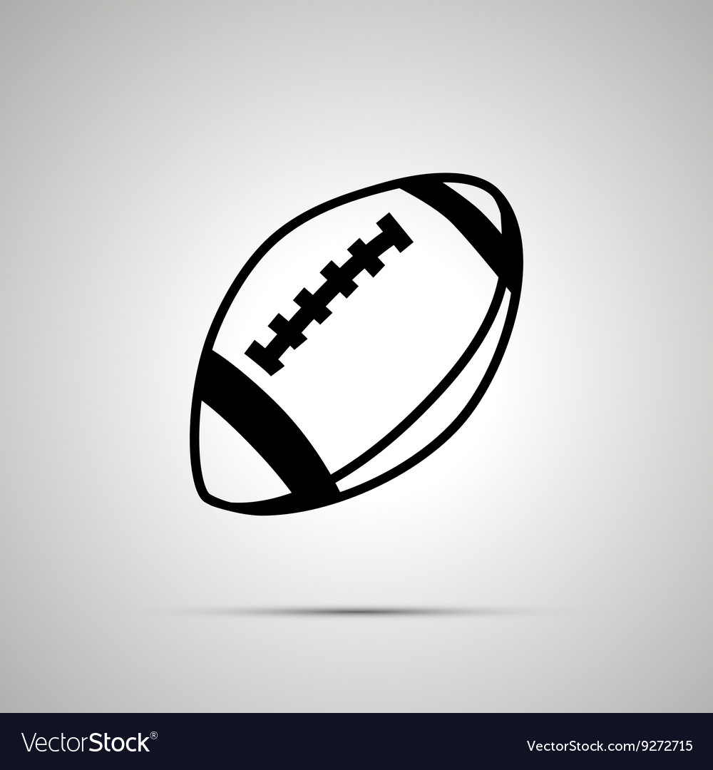 Rugby ball simple black icon