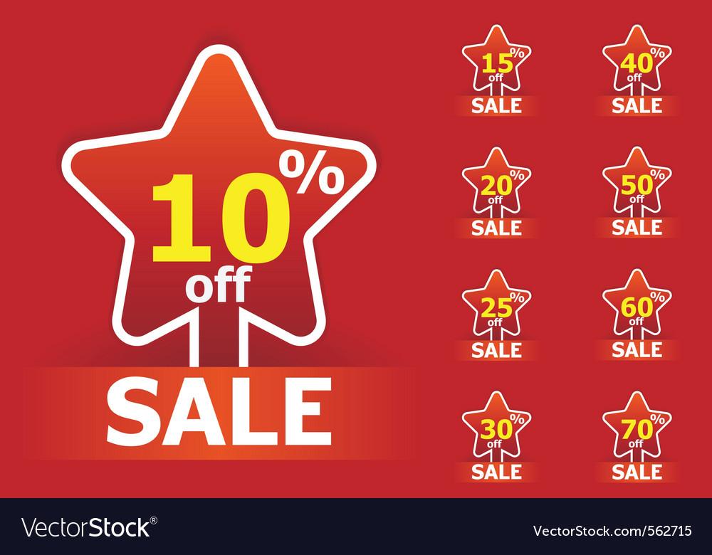 Sale star stickers