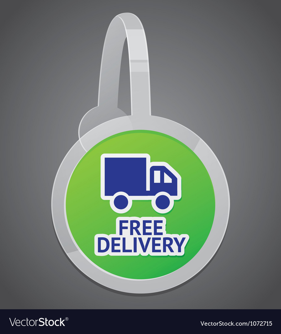 Sign with free delivery icon