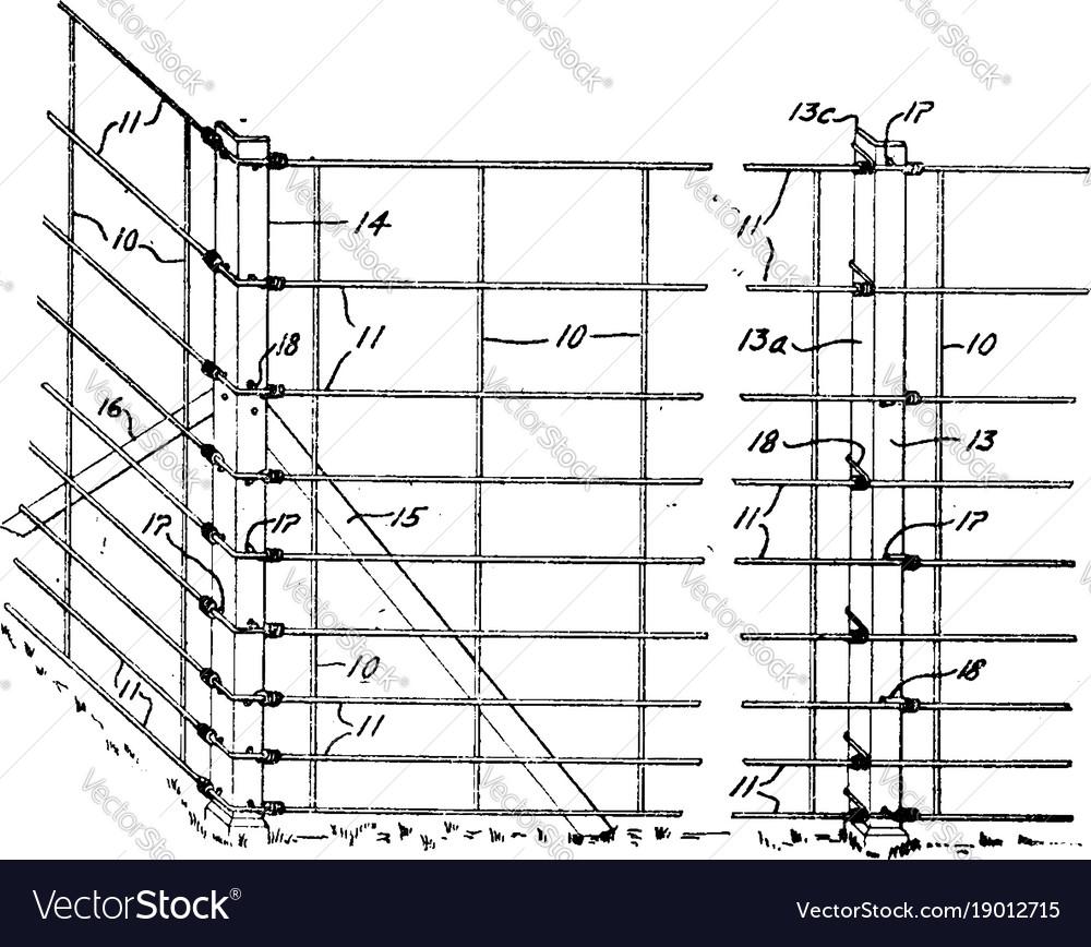 Fantastic Vintage Wire Fencing Motif - Electrical System Block ...