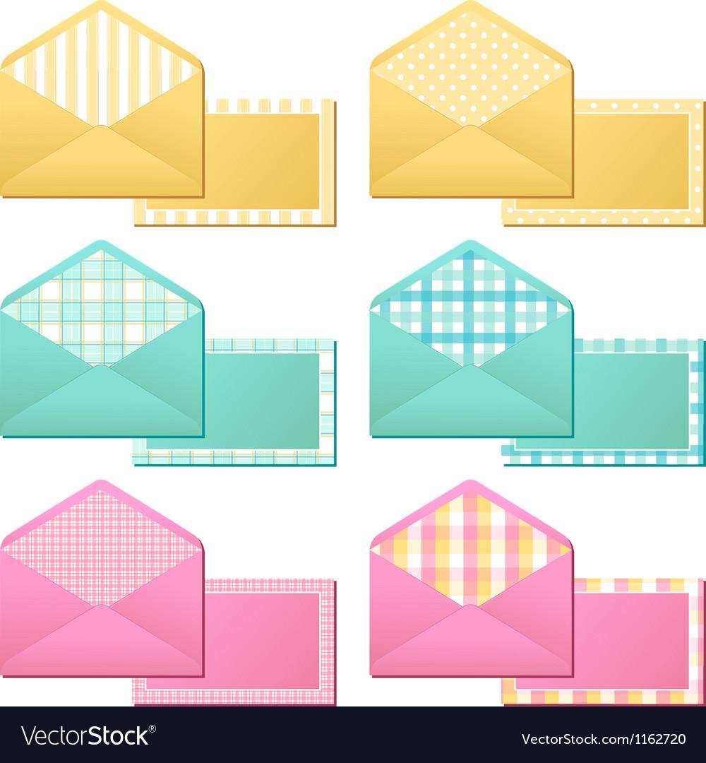Collection of old vintage envelopes
