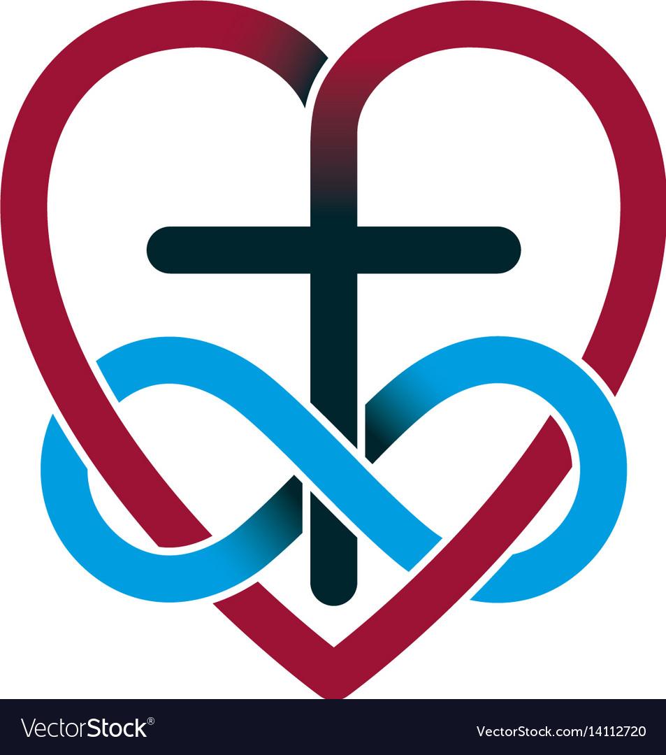 Everlasting Love Of God Creative Symbol Design Vector Image