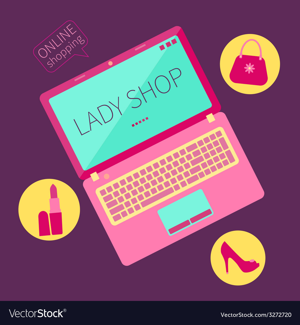 Lady shop vector image
