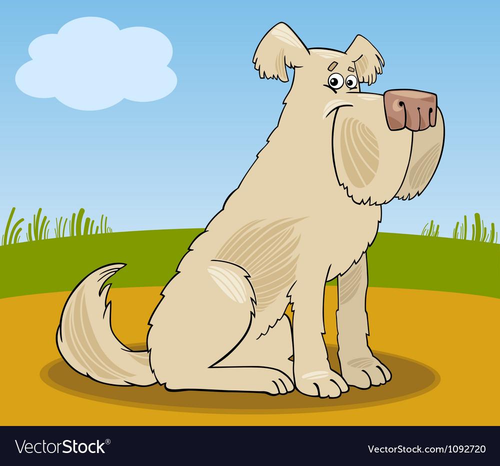Sheepdog shaggy dog cartoon