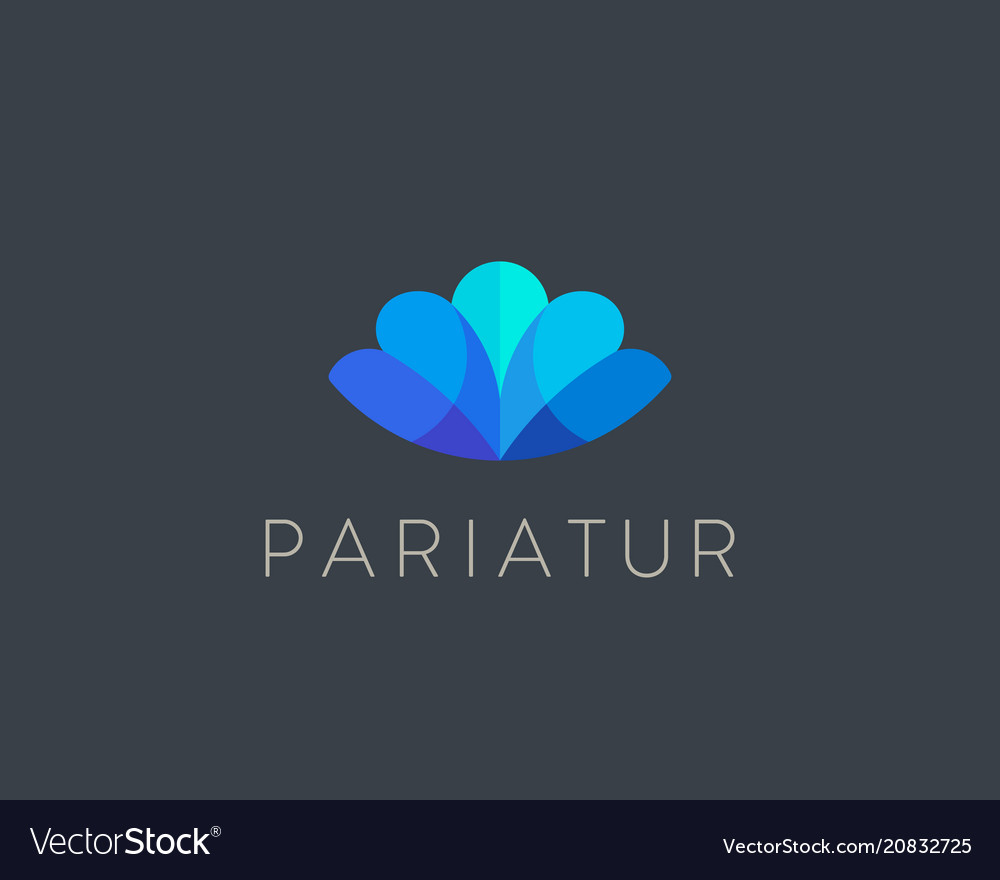 Abstract shell conch color logo design letter m vector image