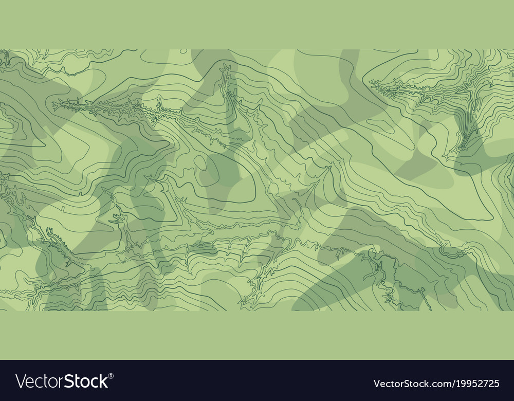 Topographic Map Downloads.Abstract Topographic Map In Green Colors Vector Image