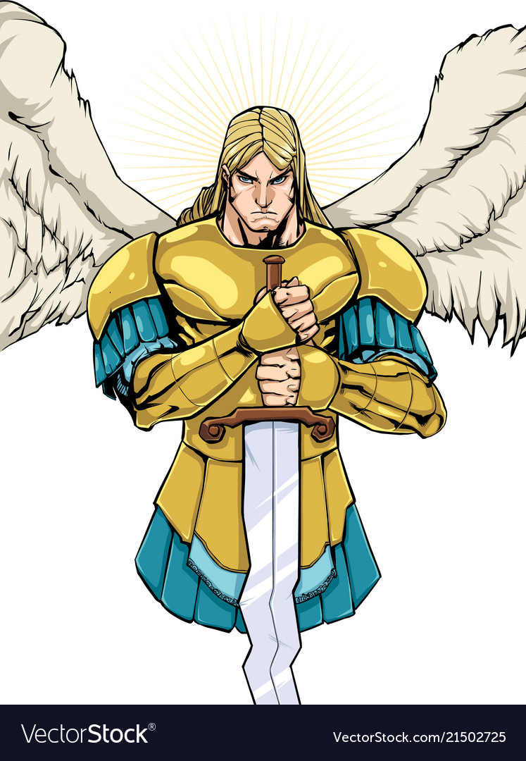 Archangel michael portrait