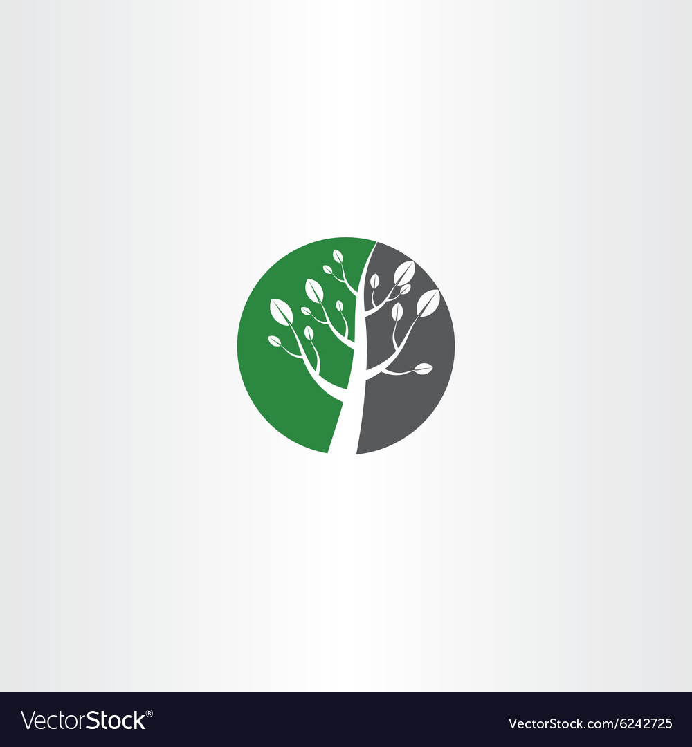 Circle tree icon logo element design vector image