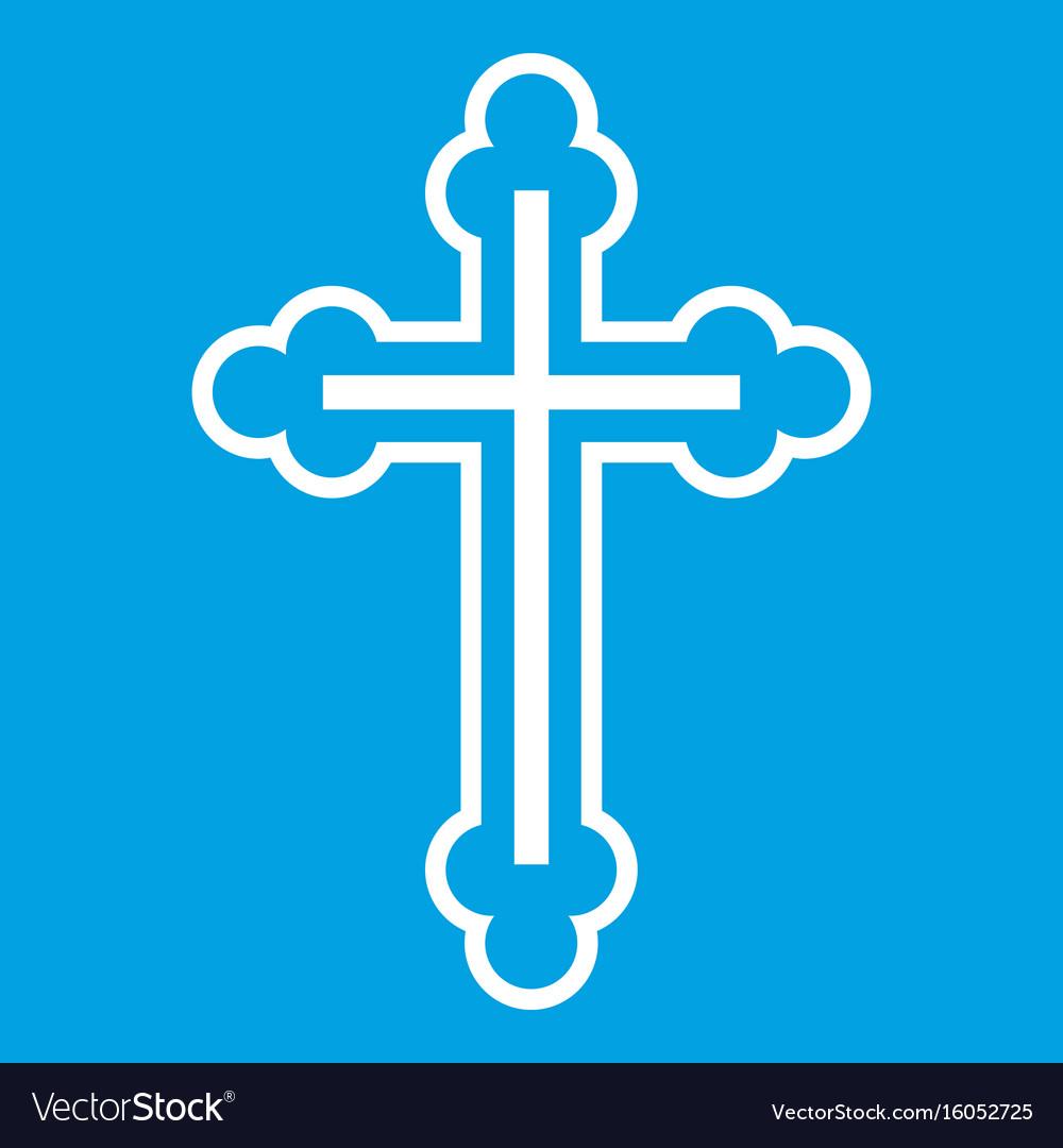 Crucifix icon white vector image