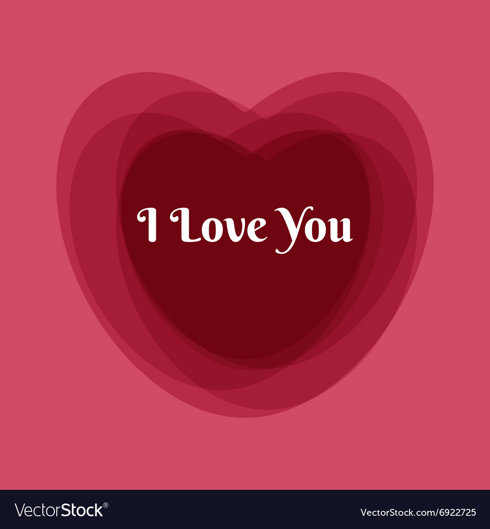Happy Valentines greeting card template