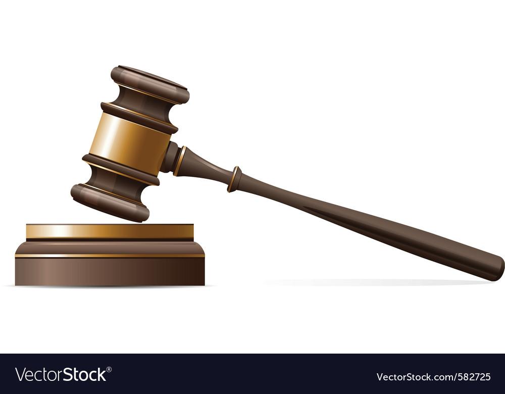 judge gavel royalty free vector image vectorstock rh vectorstock com gavel vector free download gavel vector image