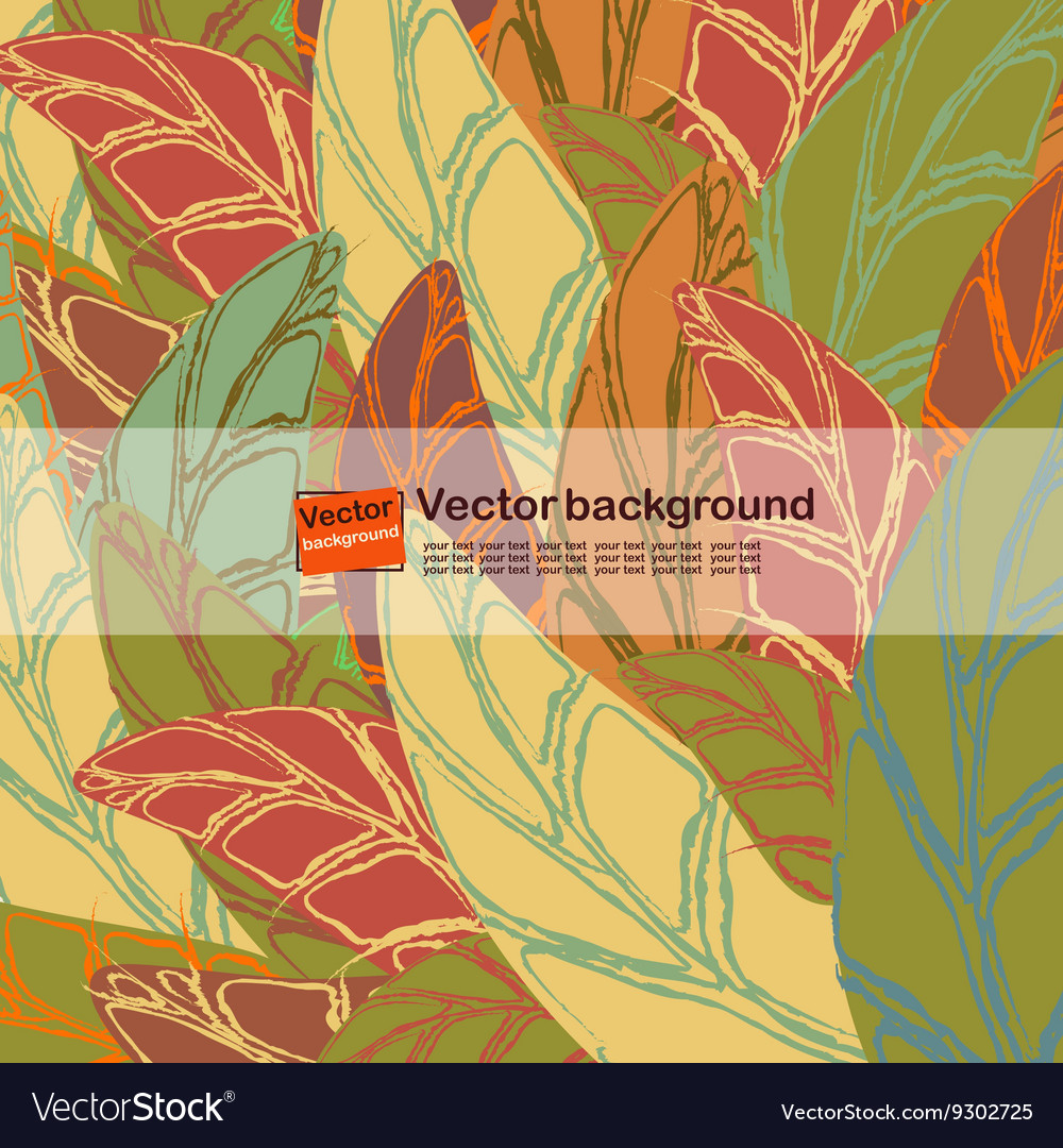 Seamless pattern with colored autumn leaves