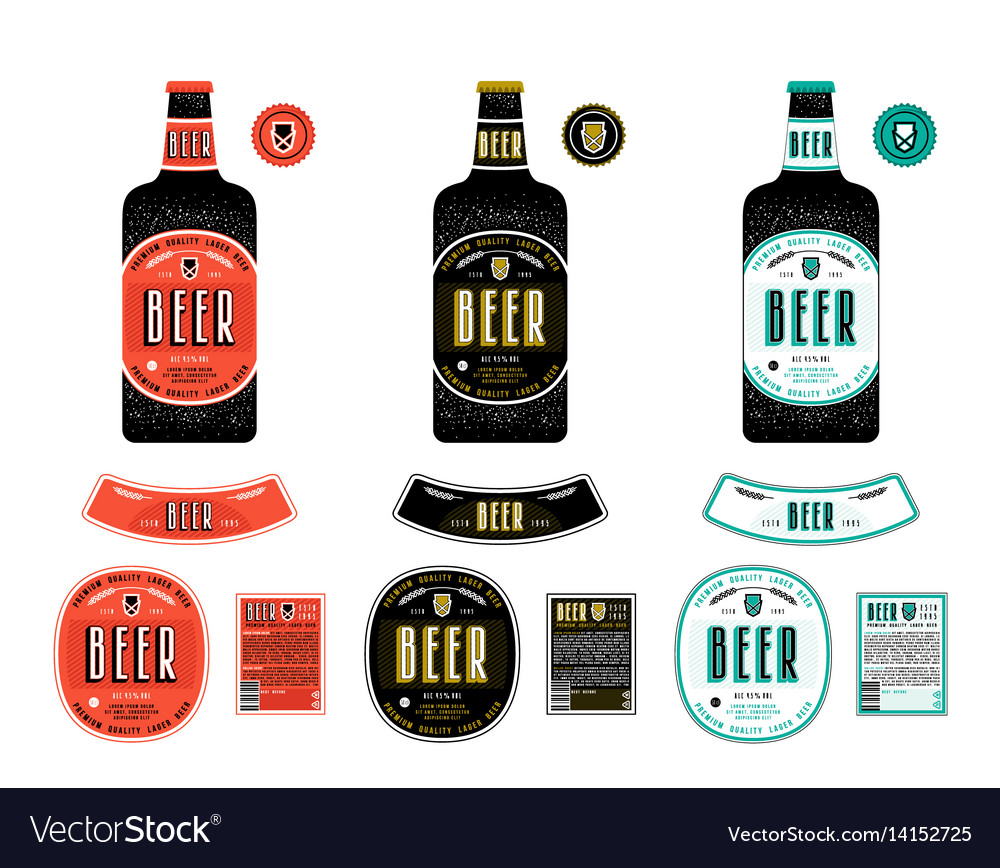 Set of templates labels for lager beer vector image