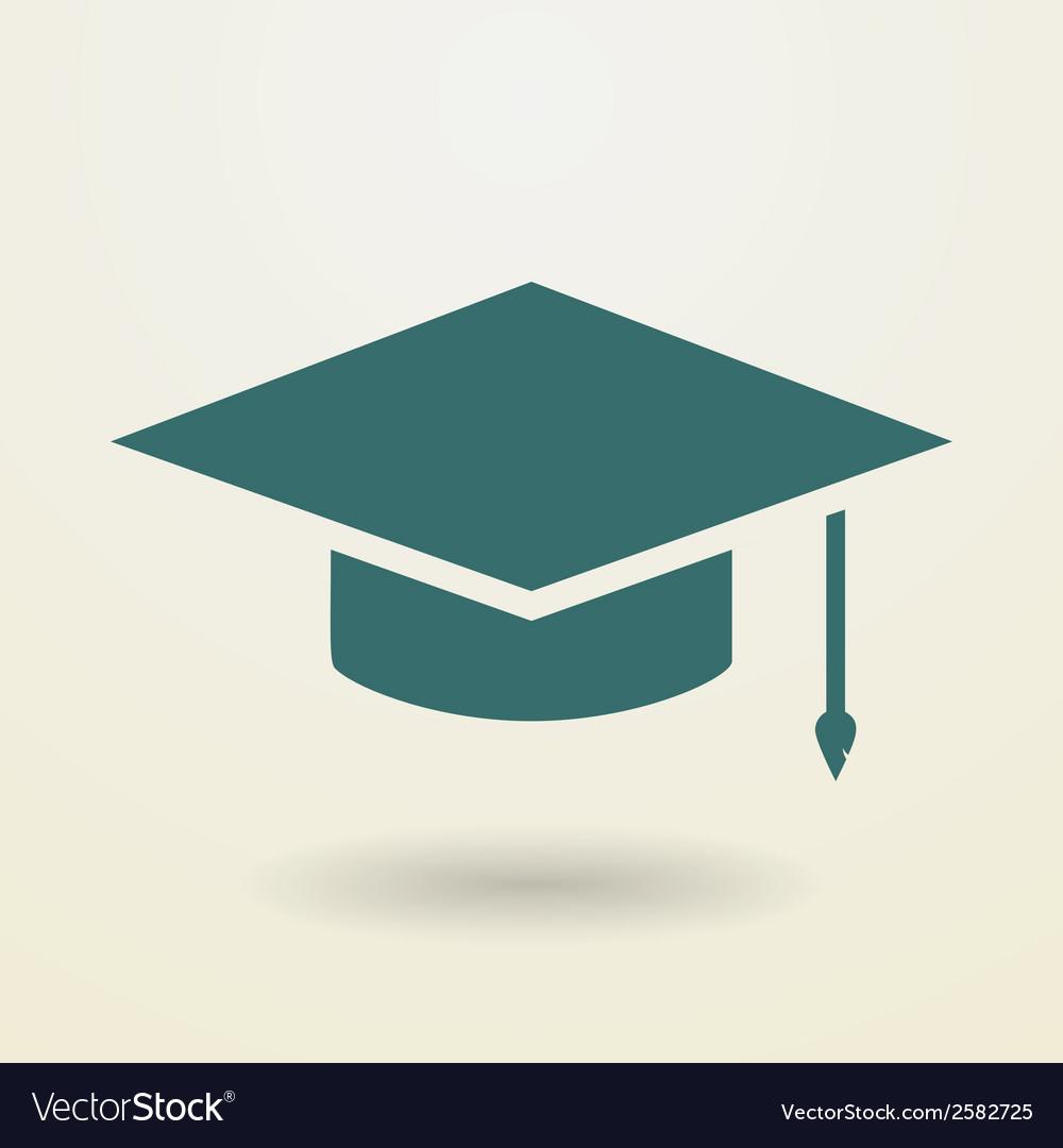Simple graduation cap icon vector image