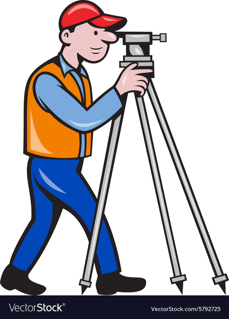 Surveyor Geodetic Engineer Theodolite Isolated