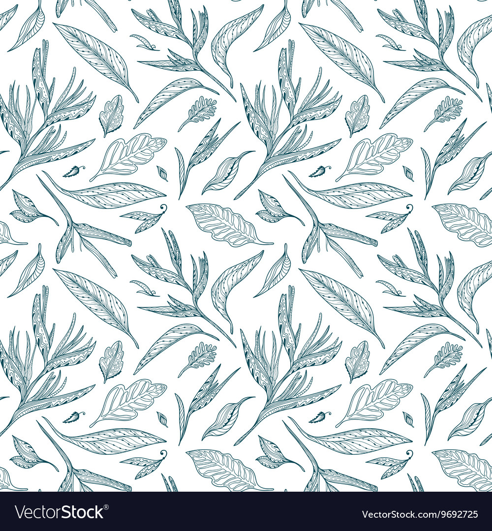 Tropical Sketch Pattern