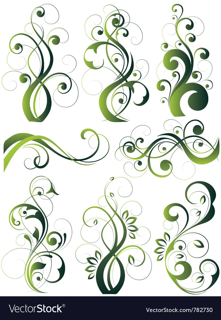 artistic flowery designs royalty free vector image