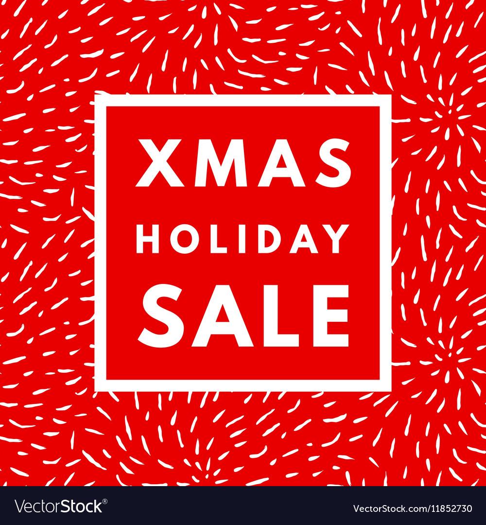 Christmas holiday sale poster