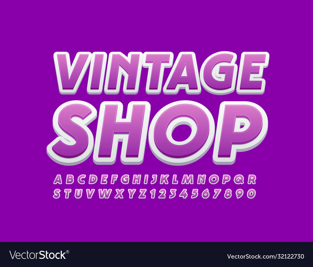 Creative logo vintage shop with bright font
