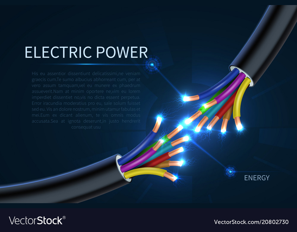 Electric power cables energy electrical wires