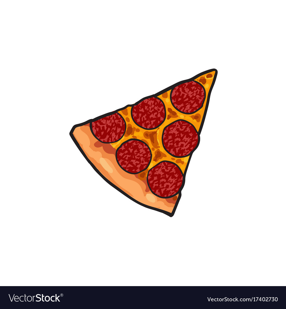 Pizza slice flat isolated