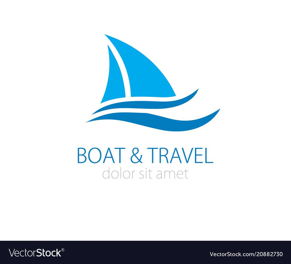 Sailboat logo vector image