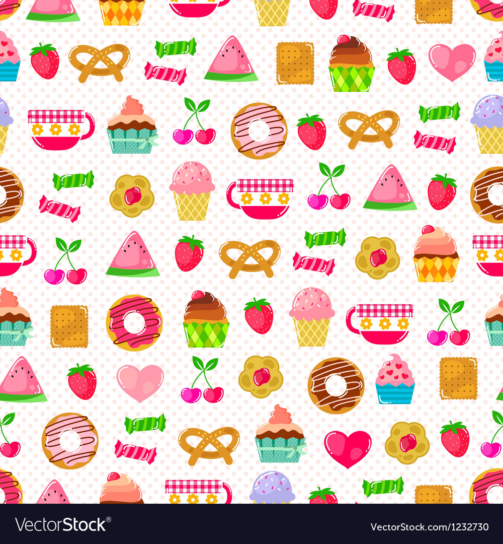 Sweet pattern vector