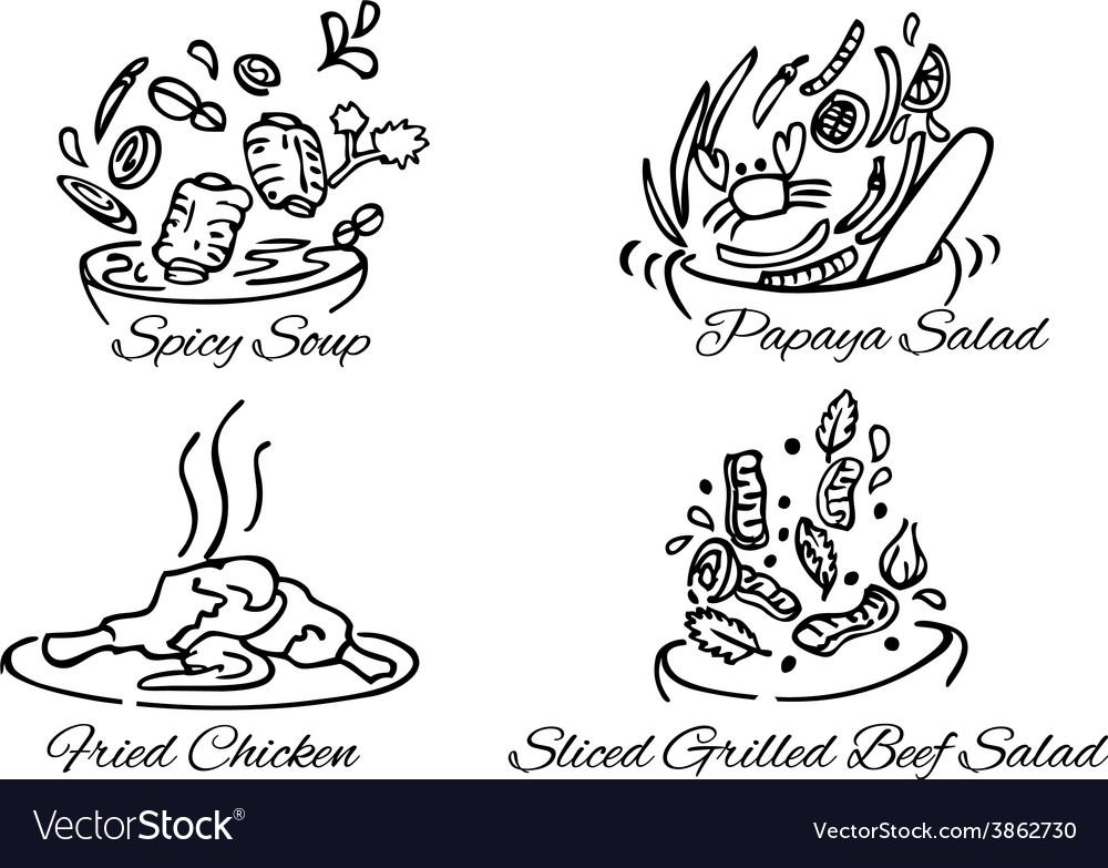 Thai foods380x400 vector image