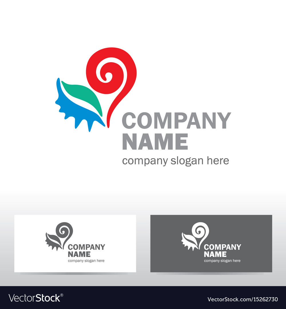 Travel logo design with heart
