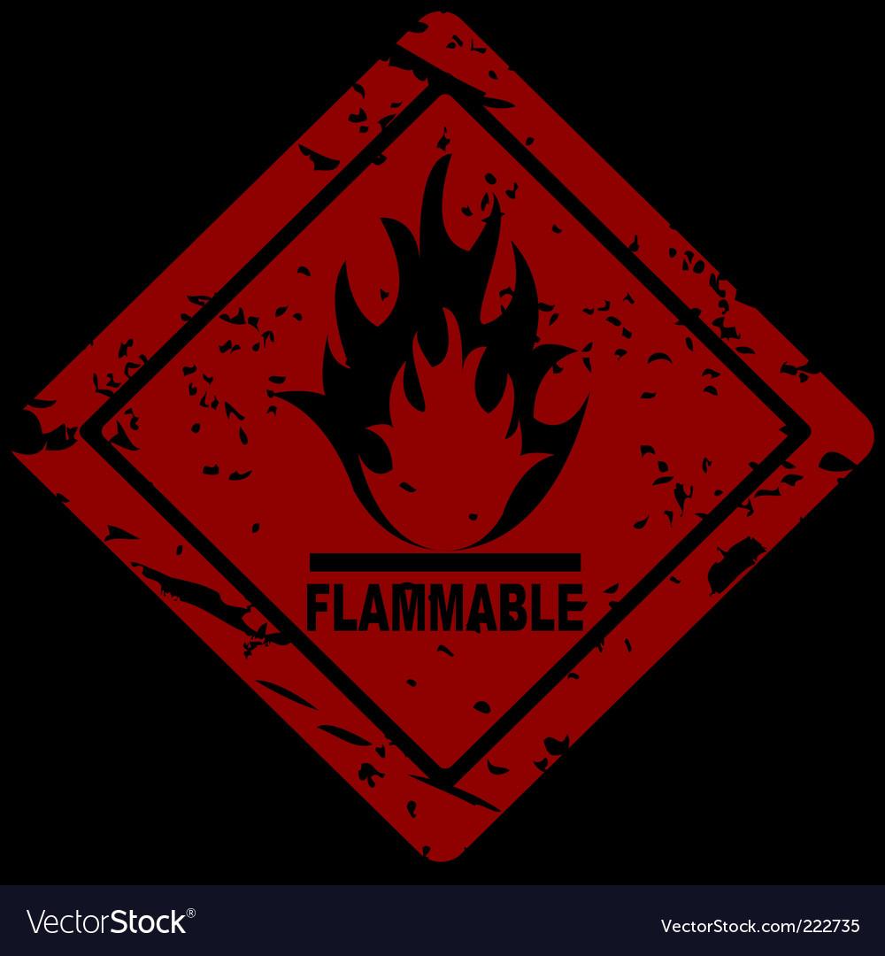 Fire Hazard Symbol Royalty Free Vector Image Vectorstock