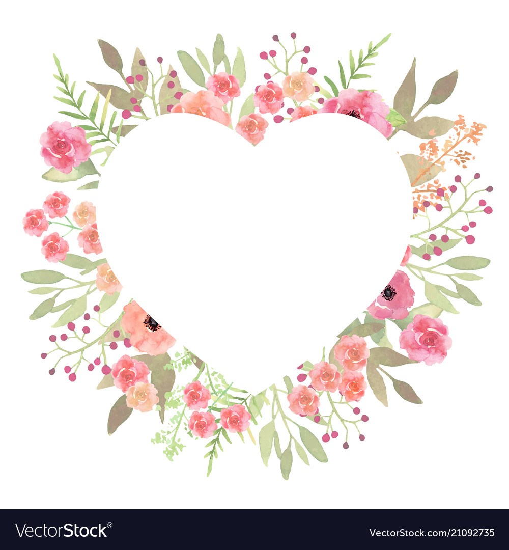 Flowers heart beautiful paper art pink design vector image mightylinksfo