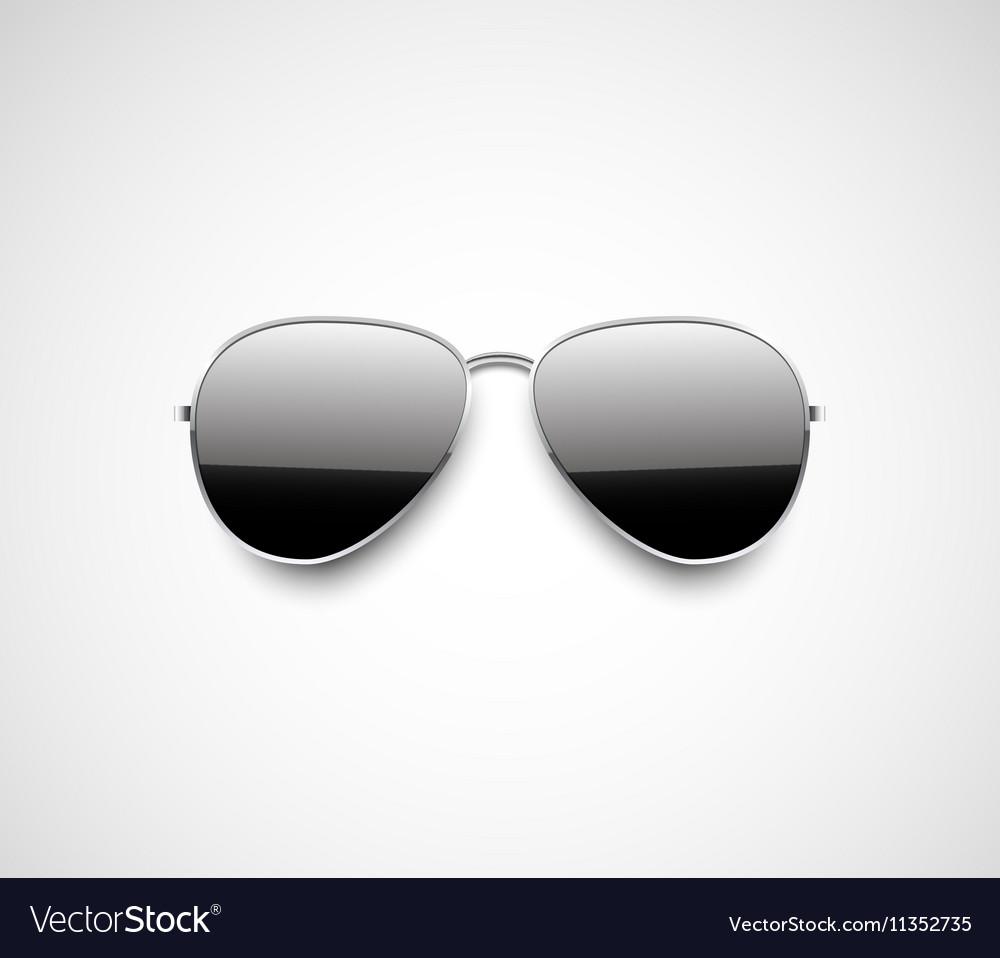 bd36a39feee Glossy black aviator sunglasses design Royalty Free Vector