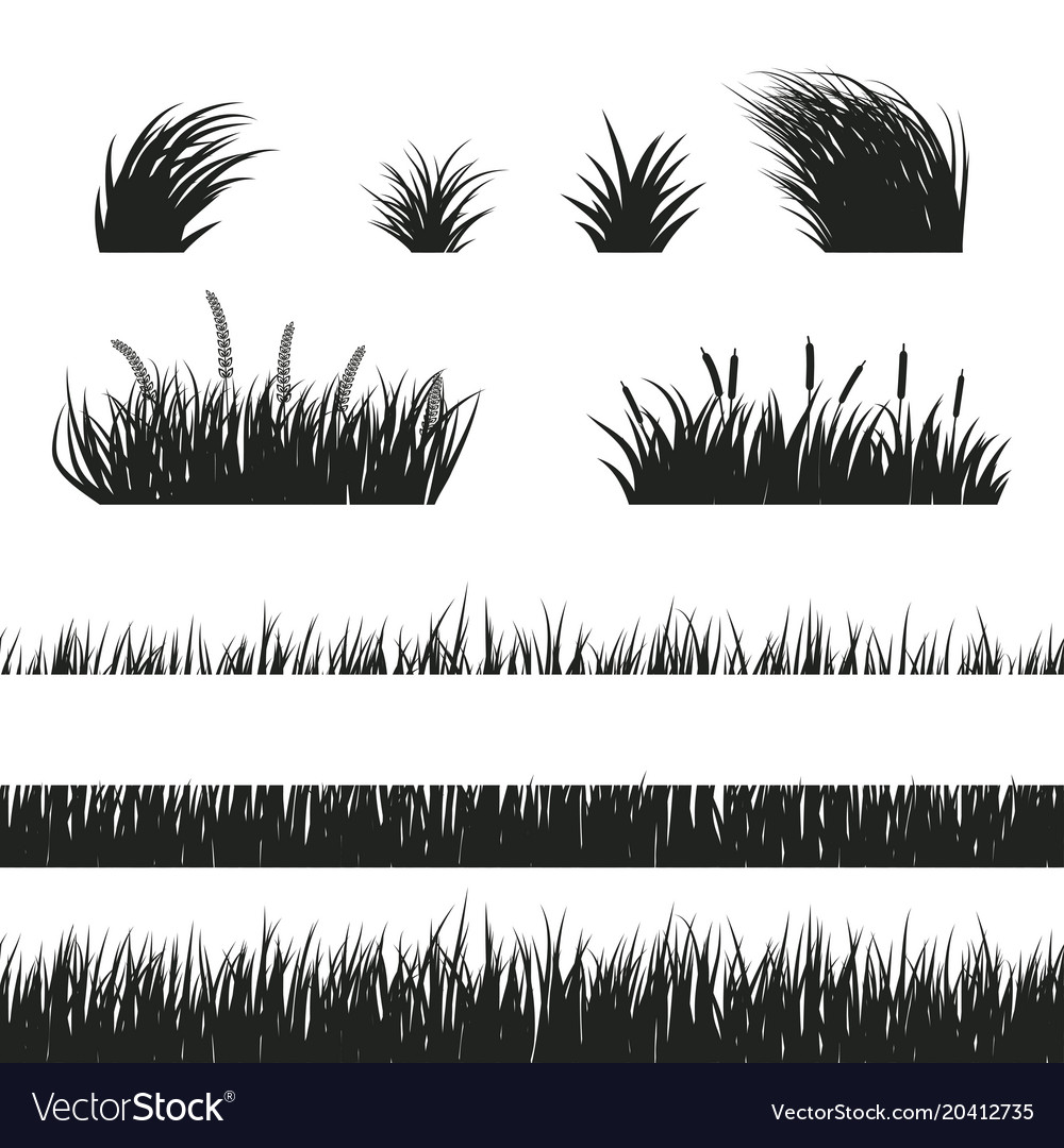 grass seamless black and white royalty free vector image vectorstock