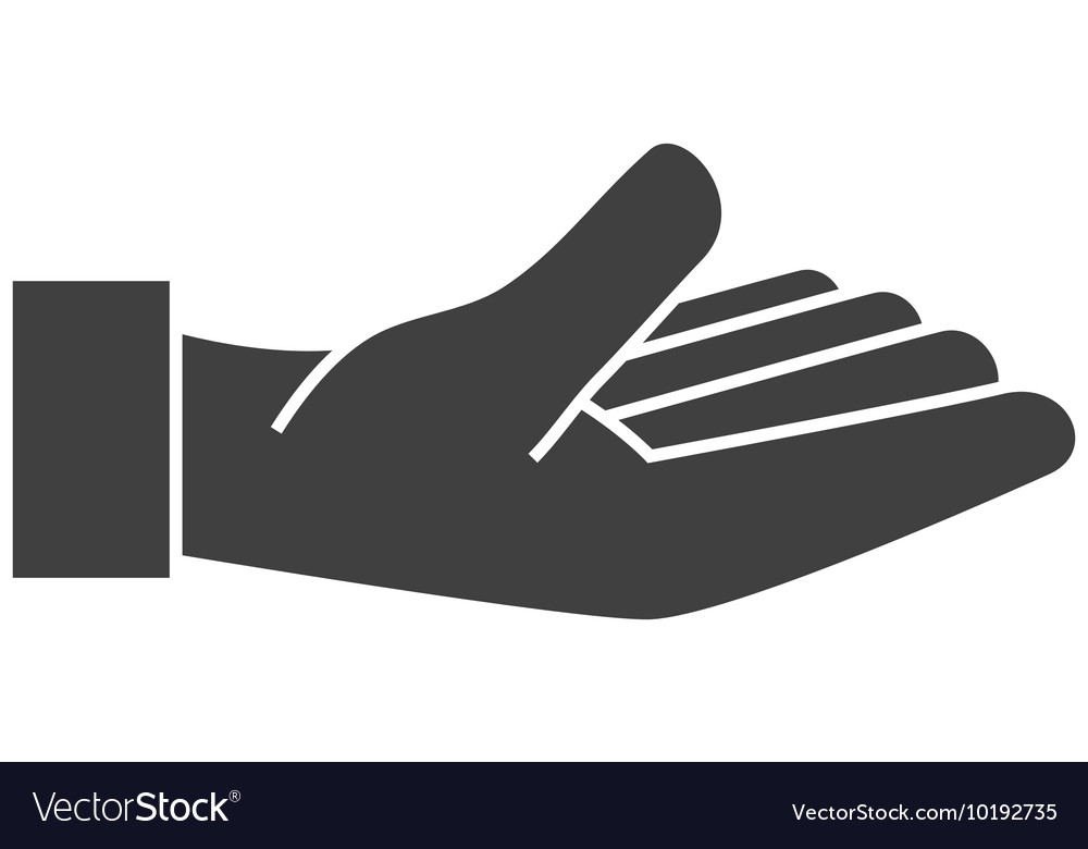 Hand open fingers palm icon graphic vector image