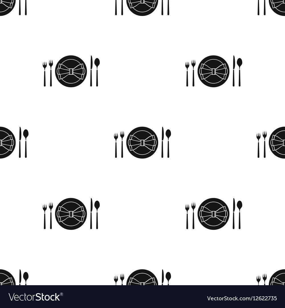 Restaurant Table Blackting Icon In Black Style