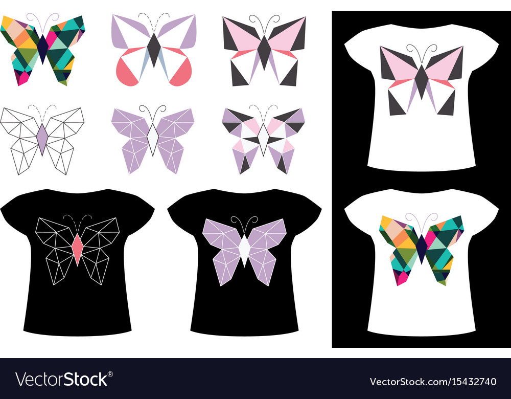 Butterfly application on t-shirt