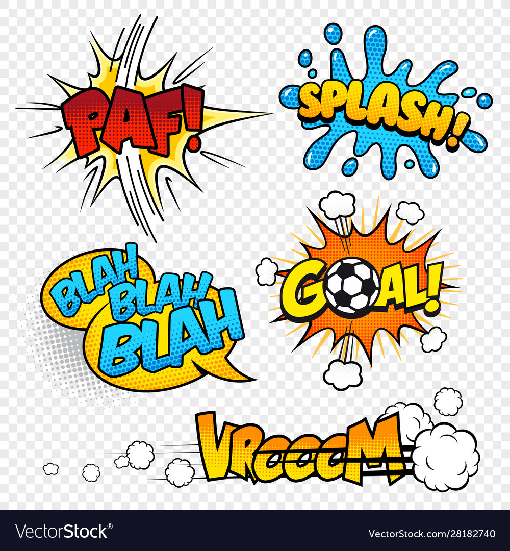 Cartoon comic sound effects set3