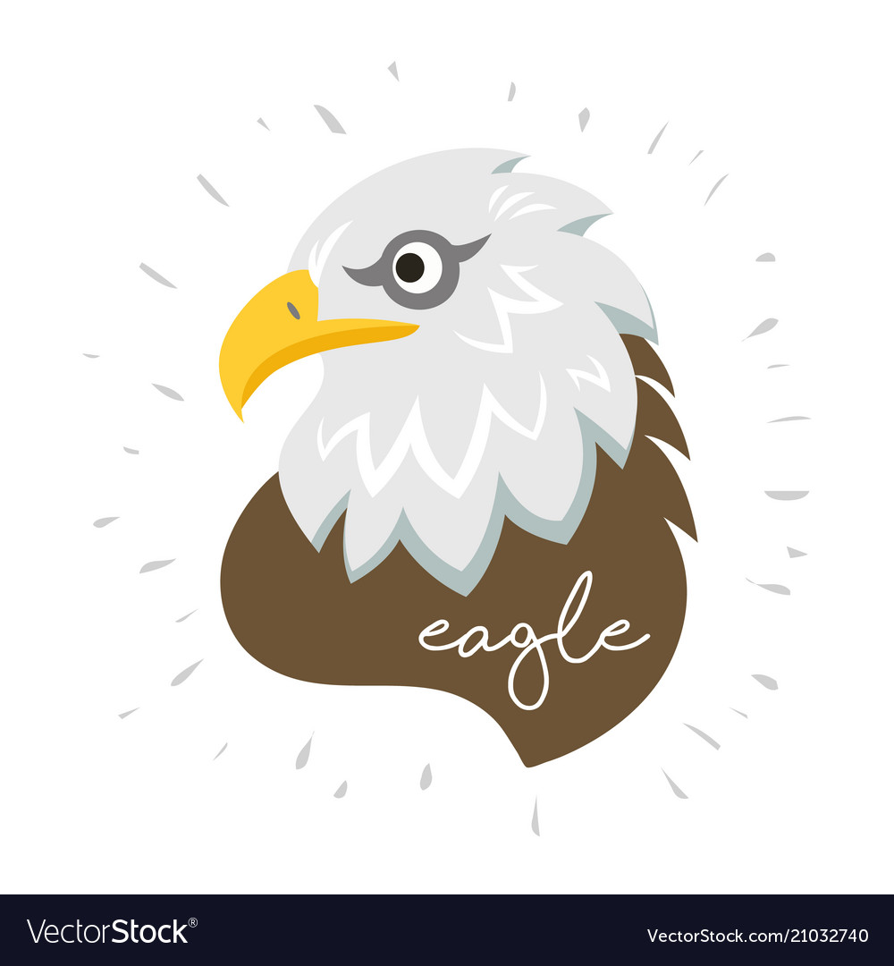 Eagle head fly logo icon cartoon tattoo