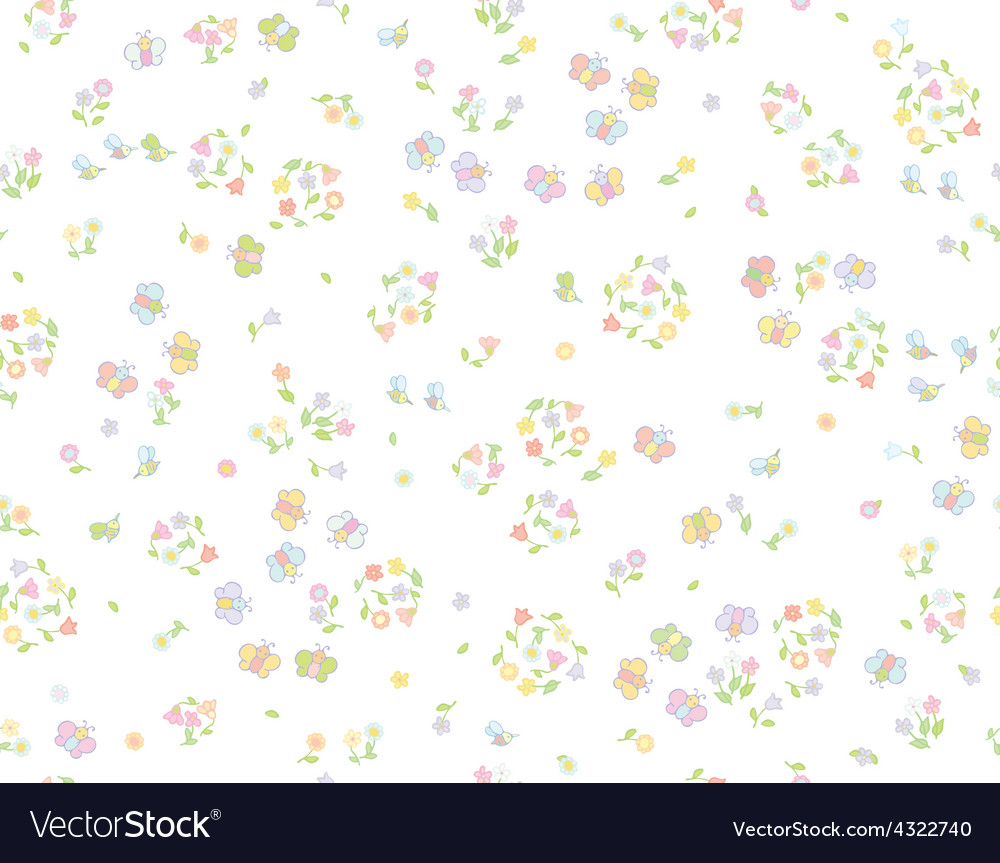 Floral insects pattern