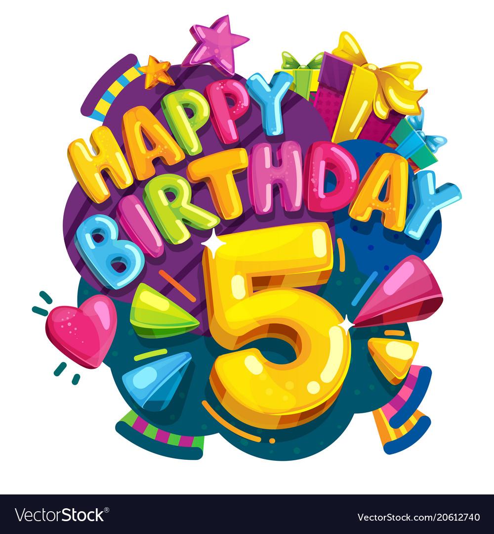 happy birthday number 5