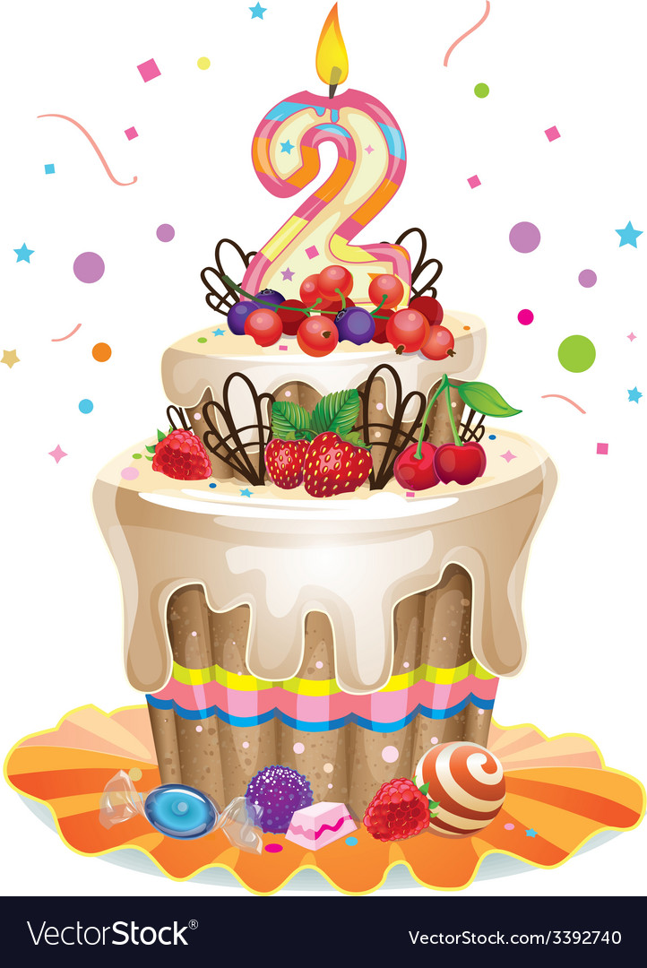 Happy Birthday Cake 2 Royalty Free Vector Image